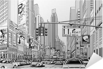 Plakat samoprzylepny Ulica w Nowym Jorku