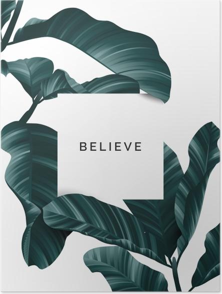 Plakat samoprzylepny Uwierz - Motywacyjne