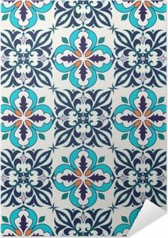 Plakat samoprzylepny Wektor bez szwu tekstury. Piękny kolorowy wzór do projektowania i mody z elementami dekoracyjnymi