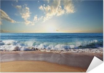 Plakat Samoprzylepny Zachód słońca na plaży