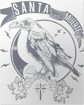 Plakat Czarny Kruk Tatuaż Pixers żyjemy By Zmieniać