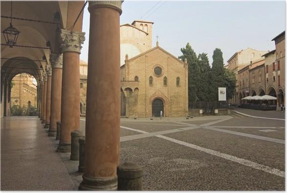Plakát Santo Stefano náměstí - Bologna, Itálie - Evropa