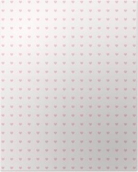 Plakát Seamless pattern se srdíčky
