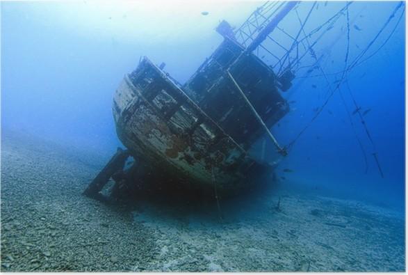 Plakát Shgipwreck naši důvěru, Bonaire - Voda