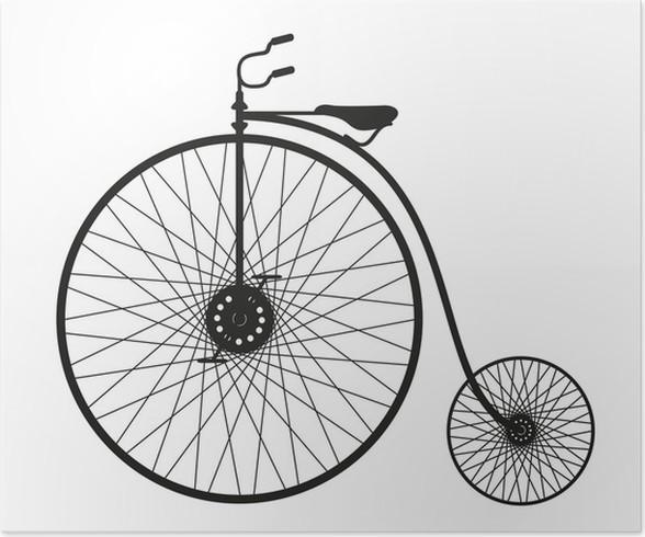 Plakát Silueta starého kola - Individuální sporty