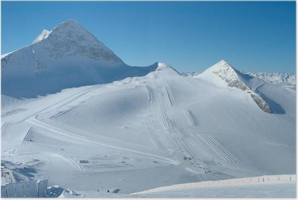 Plakát Sjezdovky na ledovec Hintertux - Zimní sporty