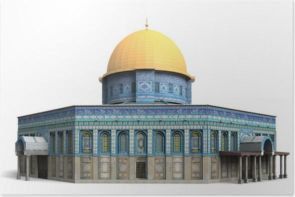 Plakát Skalní dóm Izrael - Střední Východ