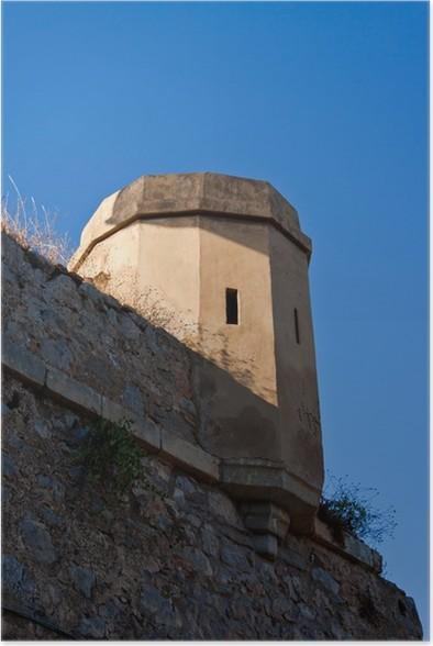 Plakát Skulina věž středověkého hradu, Nafplio hrad - Evropa