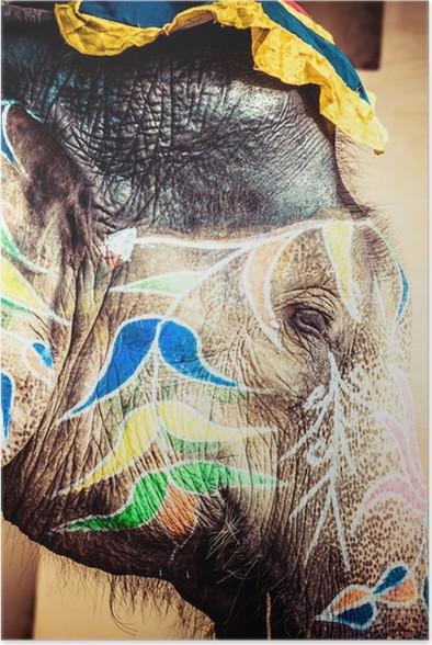 Plakát Slon. Indie, Jaipur, Rajasthan stavu. - Asie