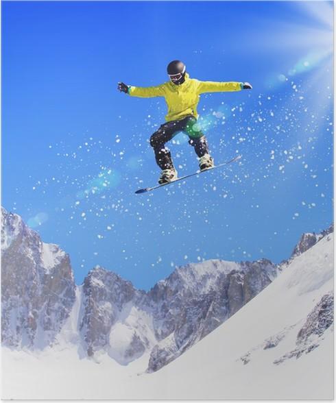 Plakát Snowboardista ve skoku - Témata