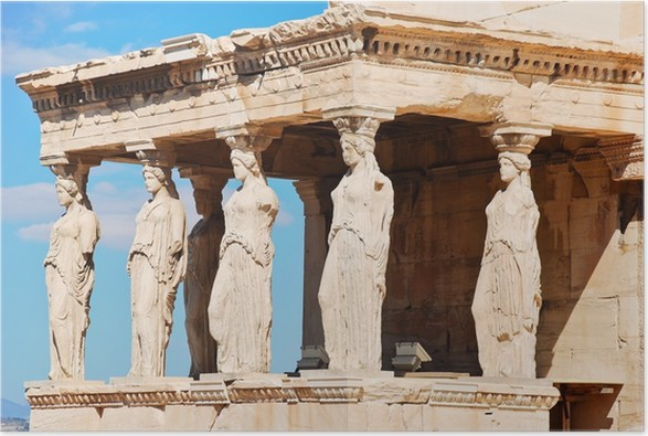 Plakát Sochy verandě Karyatides, Athens - Témata