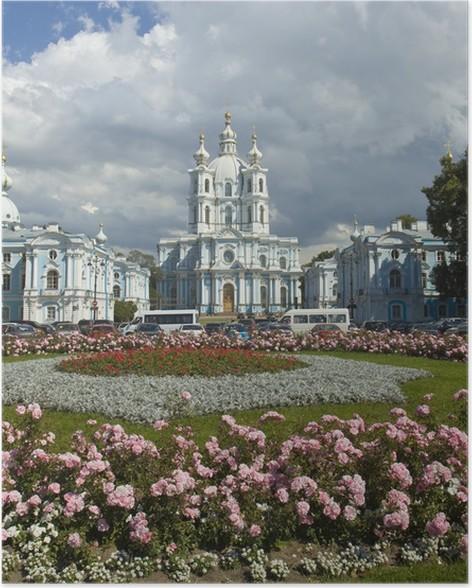 Plakát St Petersburg, Vzkříšení katedrála Smolniy kláštera - Asie