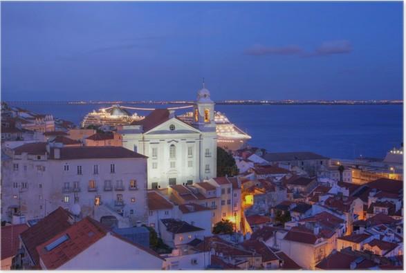Plakát St Stephen Church, Alfama, Lisabon, Portugalsko - Evropská města
