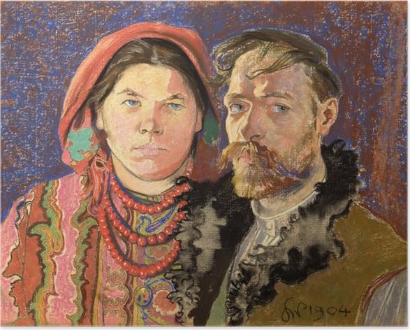 Plakat Stanisław Wyspiański - Portret artysty z żoną - Reproductions