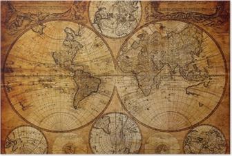 Plakat Stara mapa (1746)