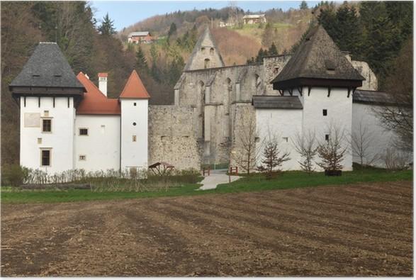 Plakát Staré kartuziánský klášter v Žiče, Slovinsko - Roční období