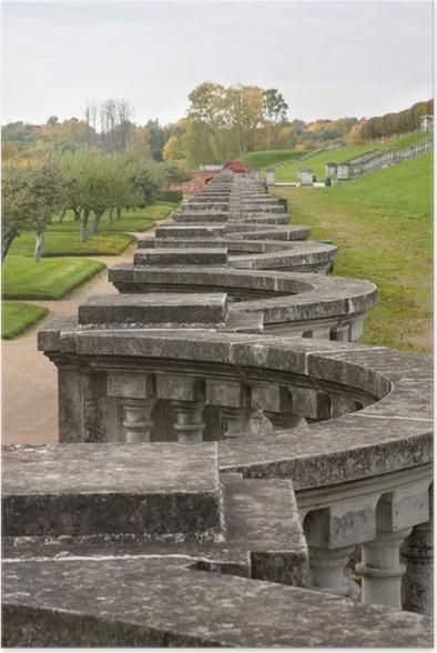 Plakát Staré zábradlí v parku - Památky