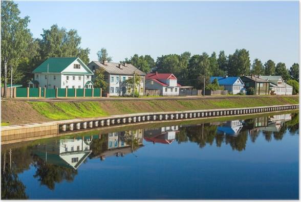 Plakát Starobylé ruské město z Tikhvin. - Roční období
