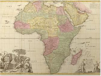 Plakat Starożytna mapa Afryki