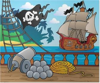Plakat Statek piracki pokład temat 4