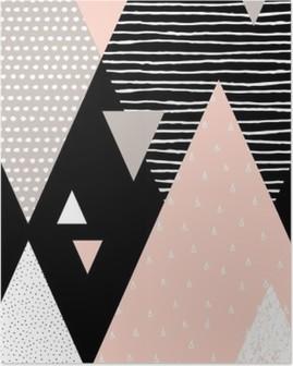 Plakat Streszczenie geometryczny Krajobraz