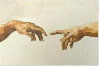 Plakat Streszczenie ilustracji wektorowych ręka Boga