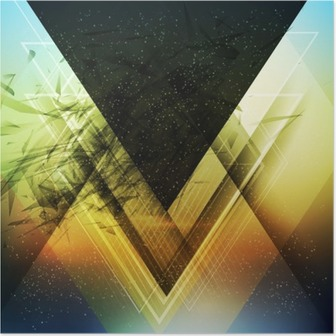 Plakat Streszczenie wektora tle trójkąta przyszłość