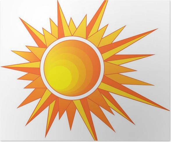Plakát Sun s ostrými paprsky - Roční období
