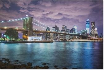 Plakat Światła Nowego Yorku