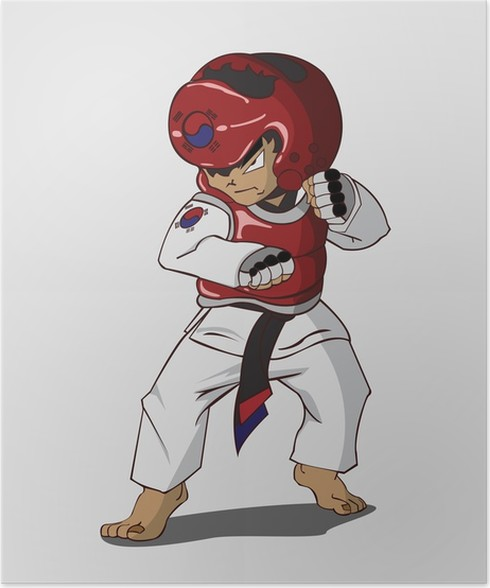 Plakat Sztuki Walki Taekwondo