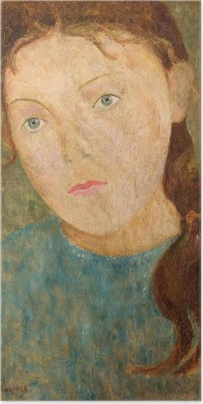 Plakat Tadeusz Makowski - Dziewczynka z rudym warkoczem - Reproductions