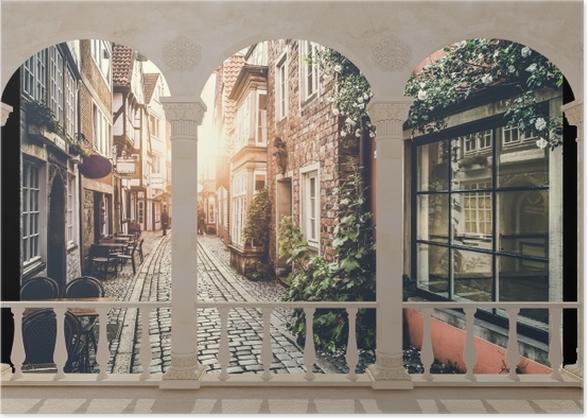 Plakat Taras - Stare ulice - Tarasy