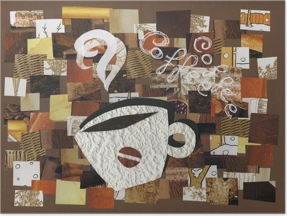 Plakát Tazzina Fumante di caffè: koláž - Horké nápoje
