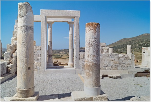 Plakát Temple of Demeter, ostrov Naxos, Řecko - Evropa