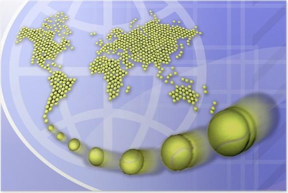 Plakát Tenis planisferio - Tenis