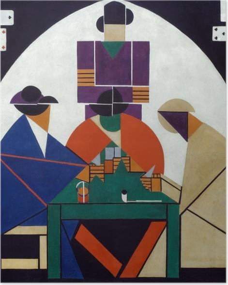 Plakat Theo van Doesburg - Grający w karty - Reproductions