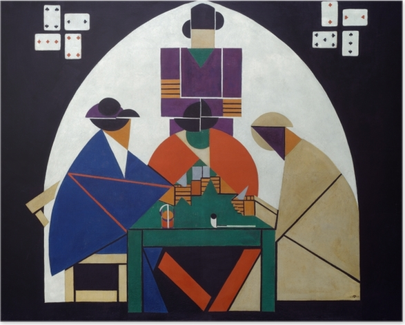 Plakat Theo van Doesburg - Grający w karty - Reproductions
