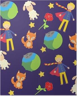 Plakat Tła z małych znaków prince