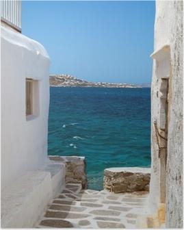 Plakat Tradycyjne greckie wyspy Mykonos dom grecja,