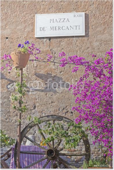 Plakát Trastevere - Piazza de 'Mercanti - Evropská města