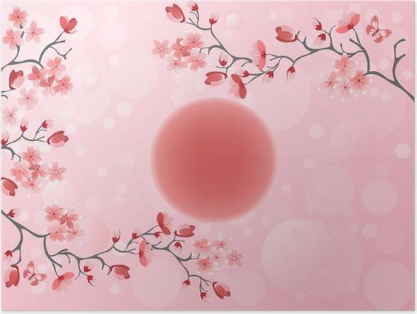 Plakát Třešňový květ - japonská jaro - Styly