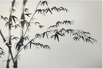 Plakat Tusz malowane bambusa