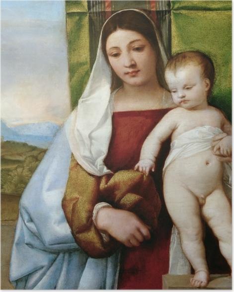 Plakat Tycjan - Maria z Dzieciątkiem - Reprodukcje