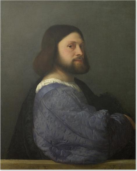 Plakat Tycjan - Portret mężczyzny - Reprodukcje