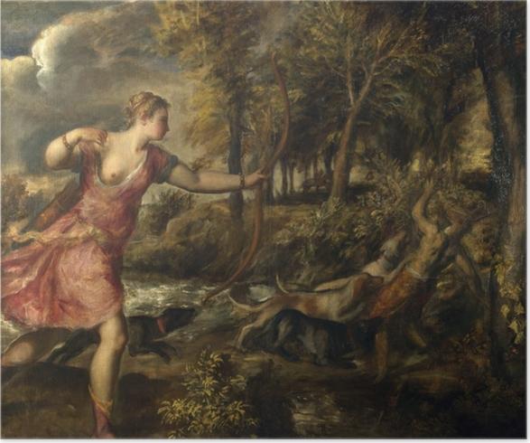 Plakat Tycjan - Śmierć Akteona - Reprodukcje
