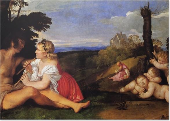 Plakat Tycjan - Trzy okresy życia - Reprodukcje