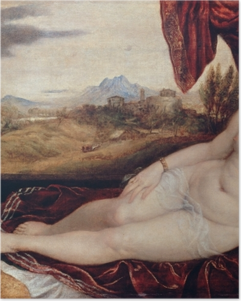 Plakat Tycjan - Wenus i organista - Reprodukcje