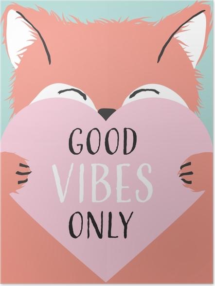 Plakat Tylko dobre wibracje - Motywacyjne