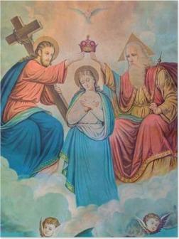 Plakat Typowy katolik obraz Koronacji Najświętszej Marii Panny