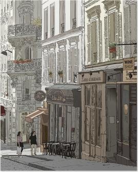 Plakat Ulica w Montmartre